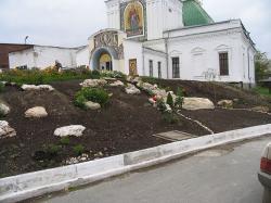 Храм Преображения Господня, создание альпийской горки